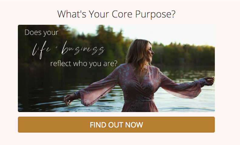what's your core purpose quiz cover to grow coaching business