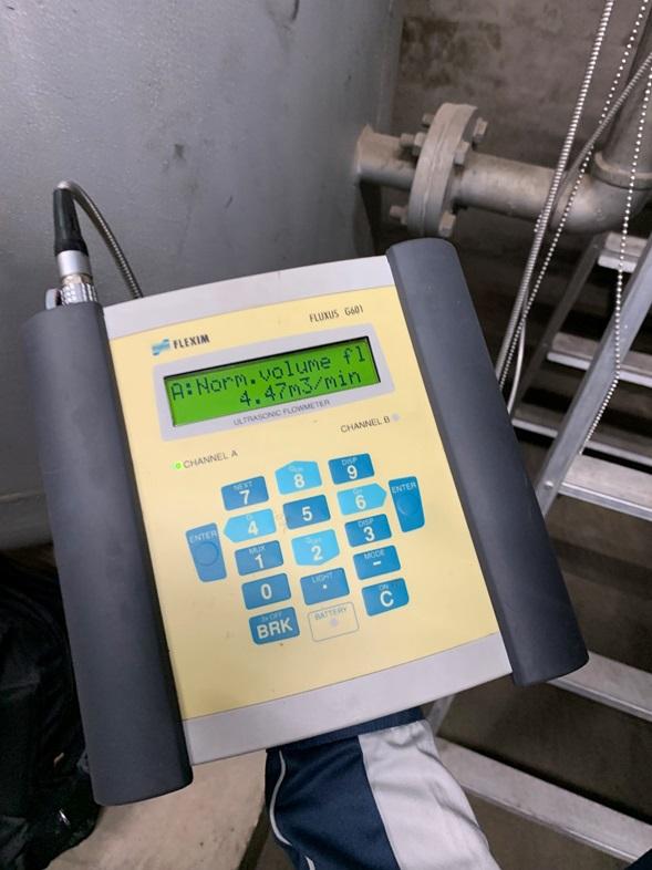 Thiết bị hỗ trợ công thức tính lưu lượng khí nén.
