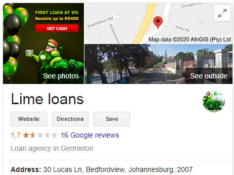 Lime Loans reviews on Google