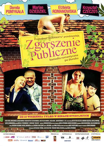 Przód ulotki filmu 'Zgorszenie Publiczne'