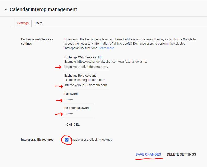 G Suite and Cloud Integration: G Suite Calendar Interop: share free