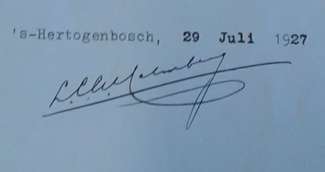 Handtekening Malmberg
