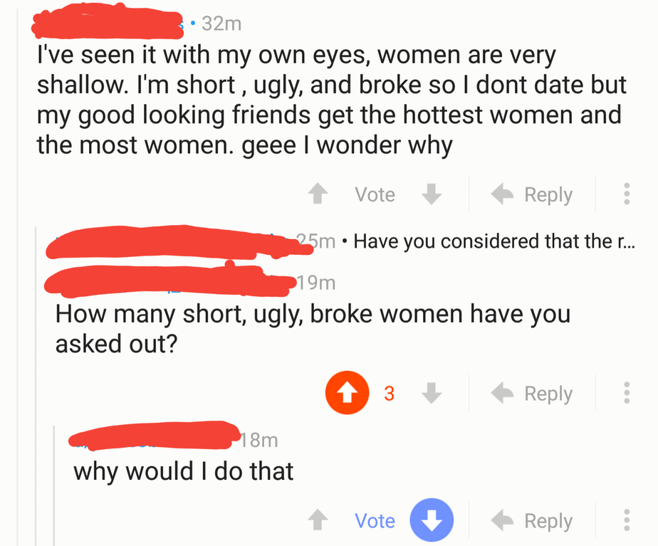 nice guy being a hypocrite
