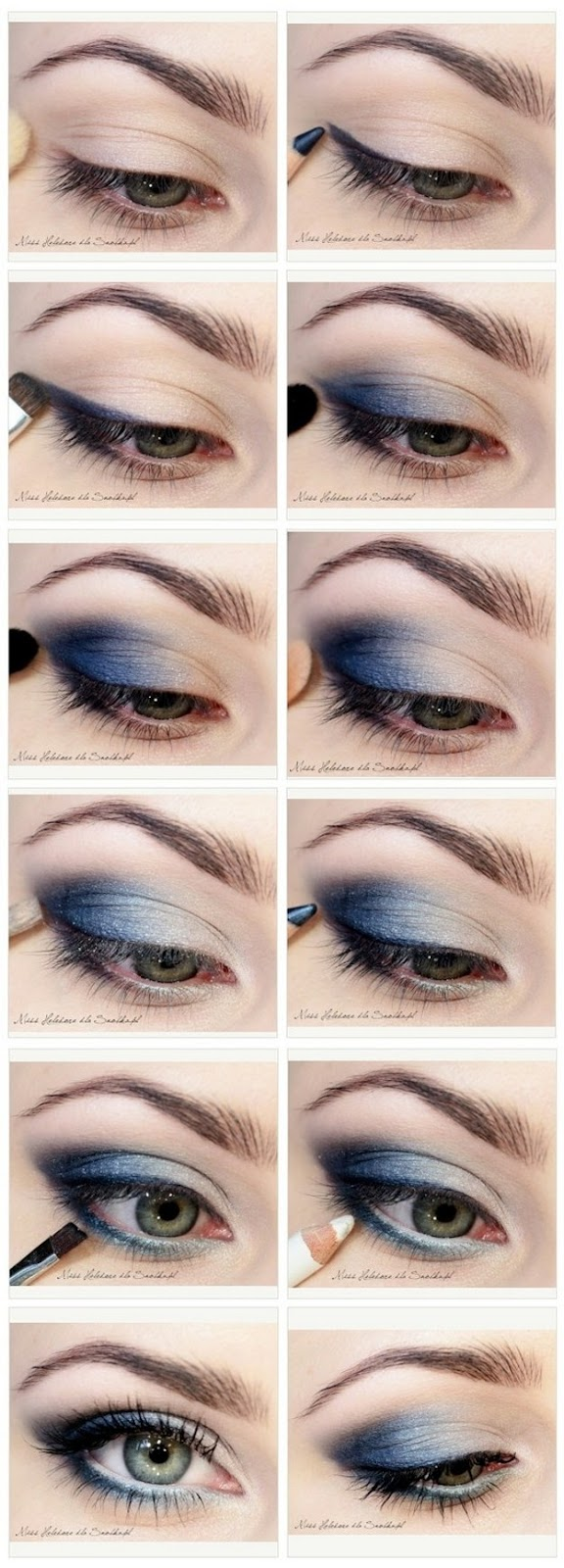 How to Do Blue Smokey Eyes | Graduation Makeup Tutorials by http://www.makeuptutorials.com/makeup-tutorials-graduation-beauty-ideas