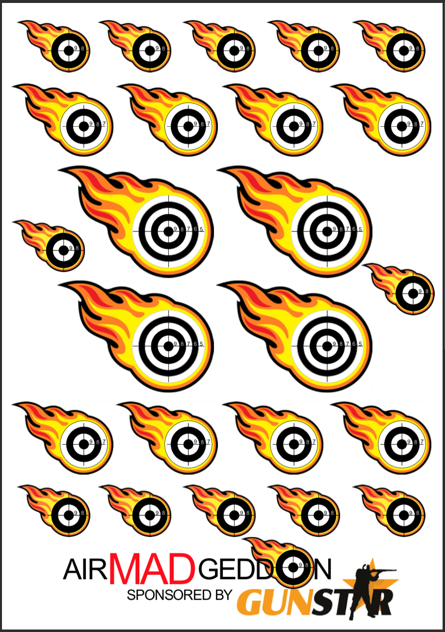 .177 shooting card for the competition