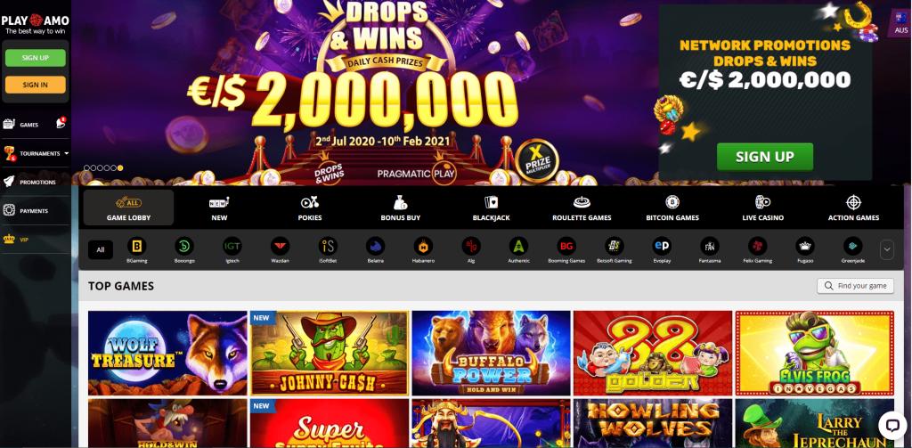PlayAmo-casino-lobby