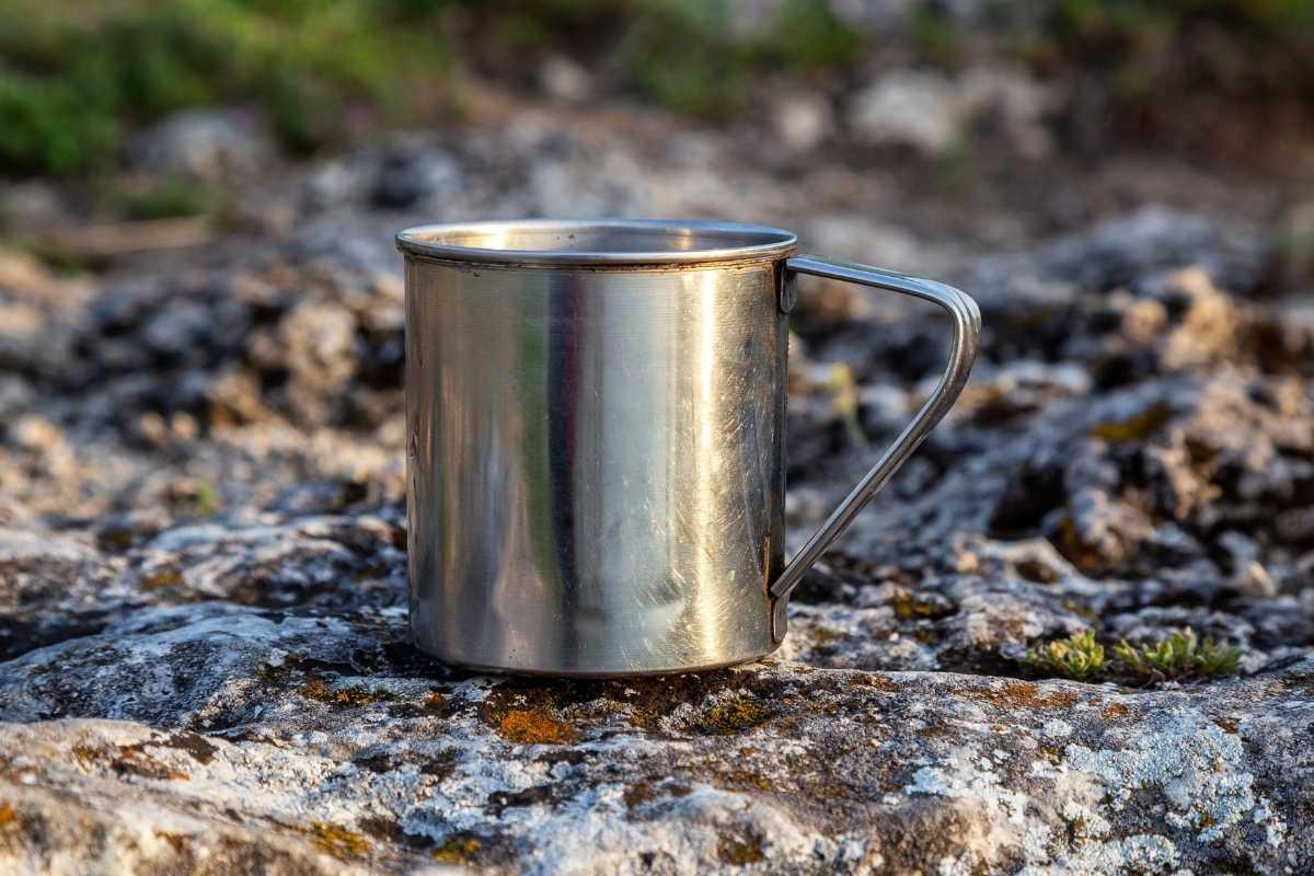 metal kayak camping cup basic