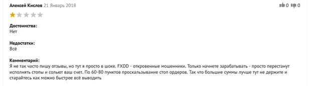 Реальные факты о лжеброкере FXDD: отзывы обманутых клиентов