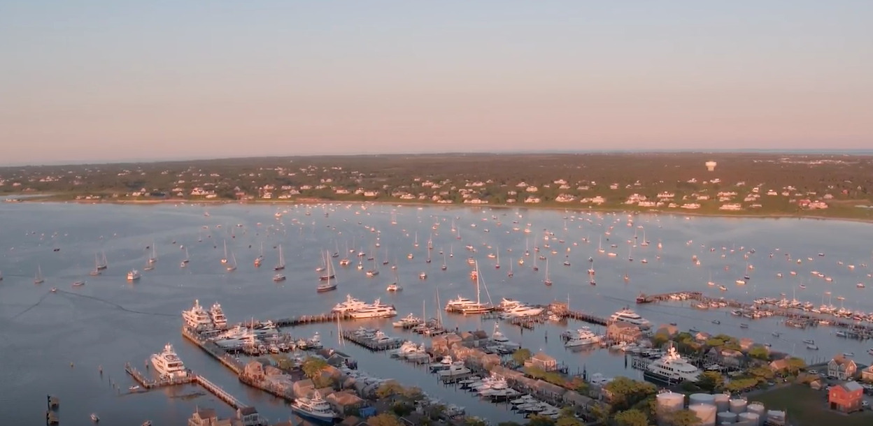 New York Social Diary, ariel view of Nantucket, Article Hilary Dick and Karen Klopp
