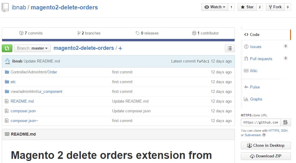 Delete Order module for Magento 2
