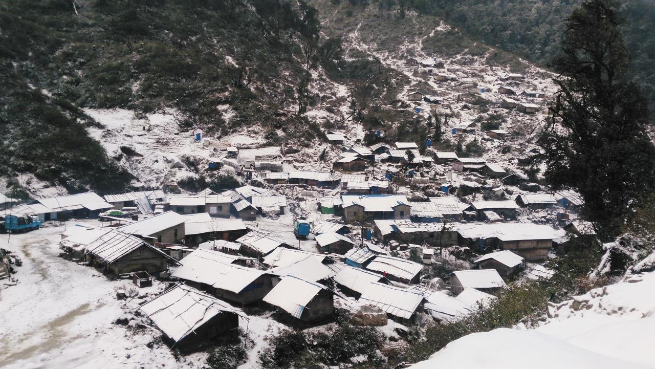 Suden IDP site in winter