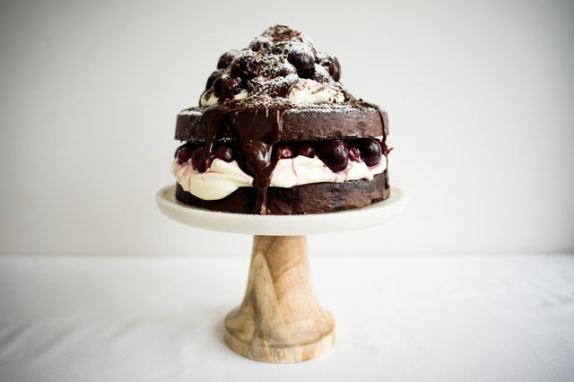 This Black Forest cake tastes as good as it looks.