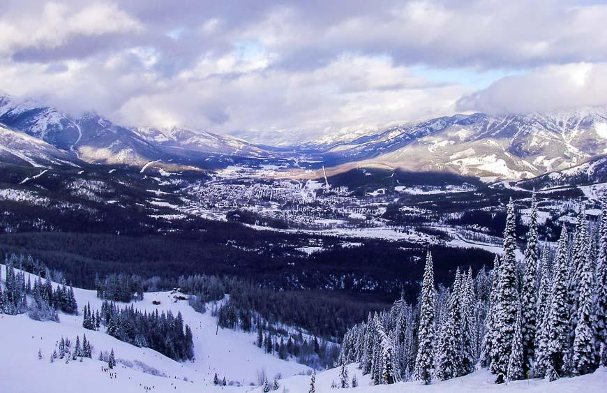 A view of Fernie from the ski resort