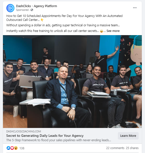 content marketing with facebook ppc
