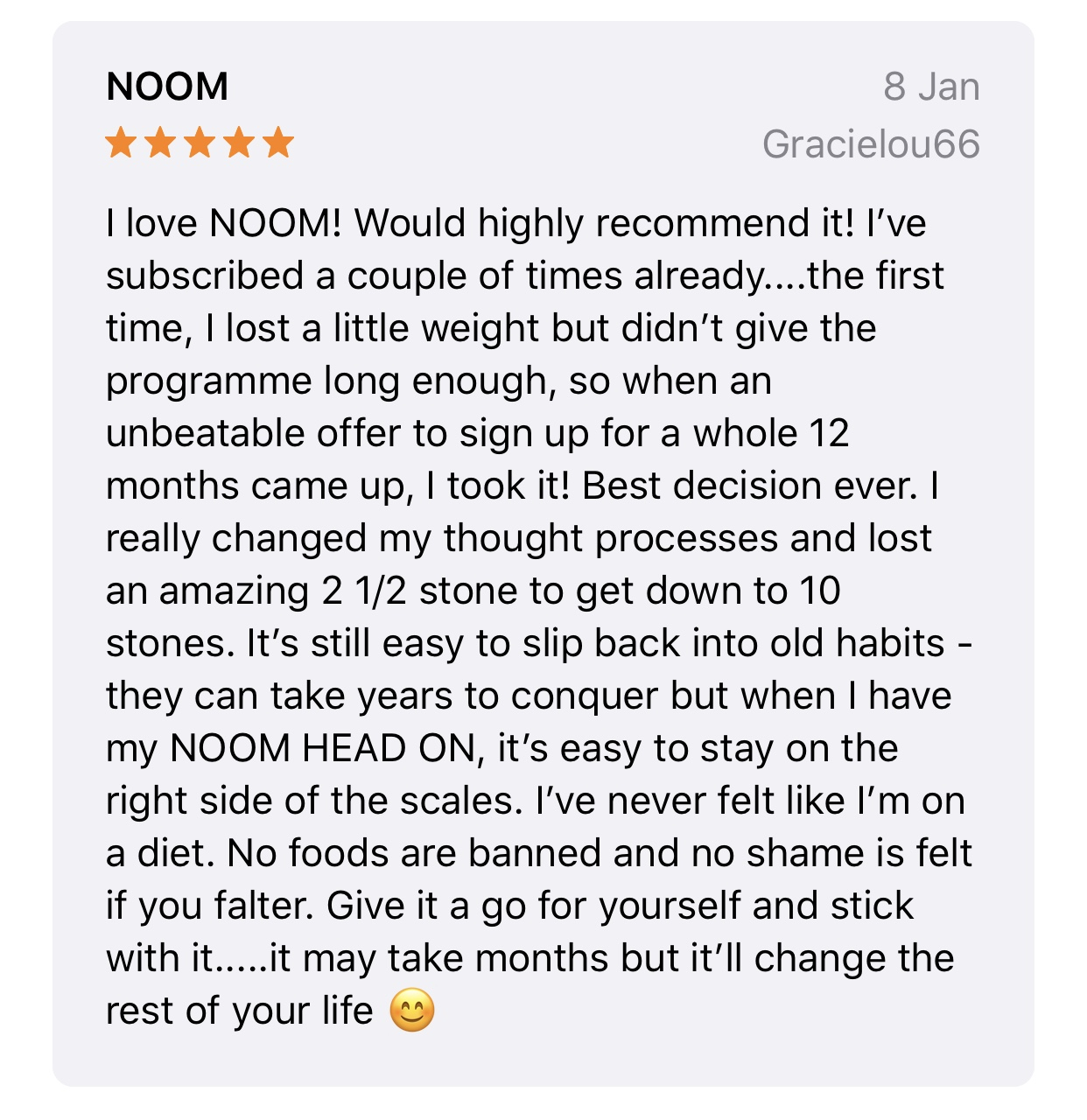 Noom user review