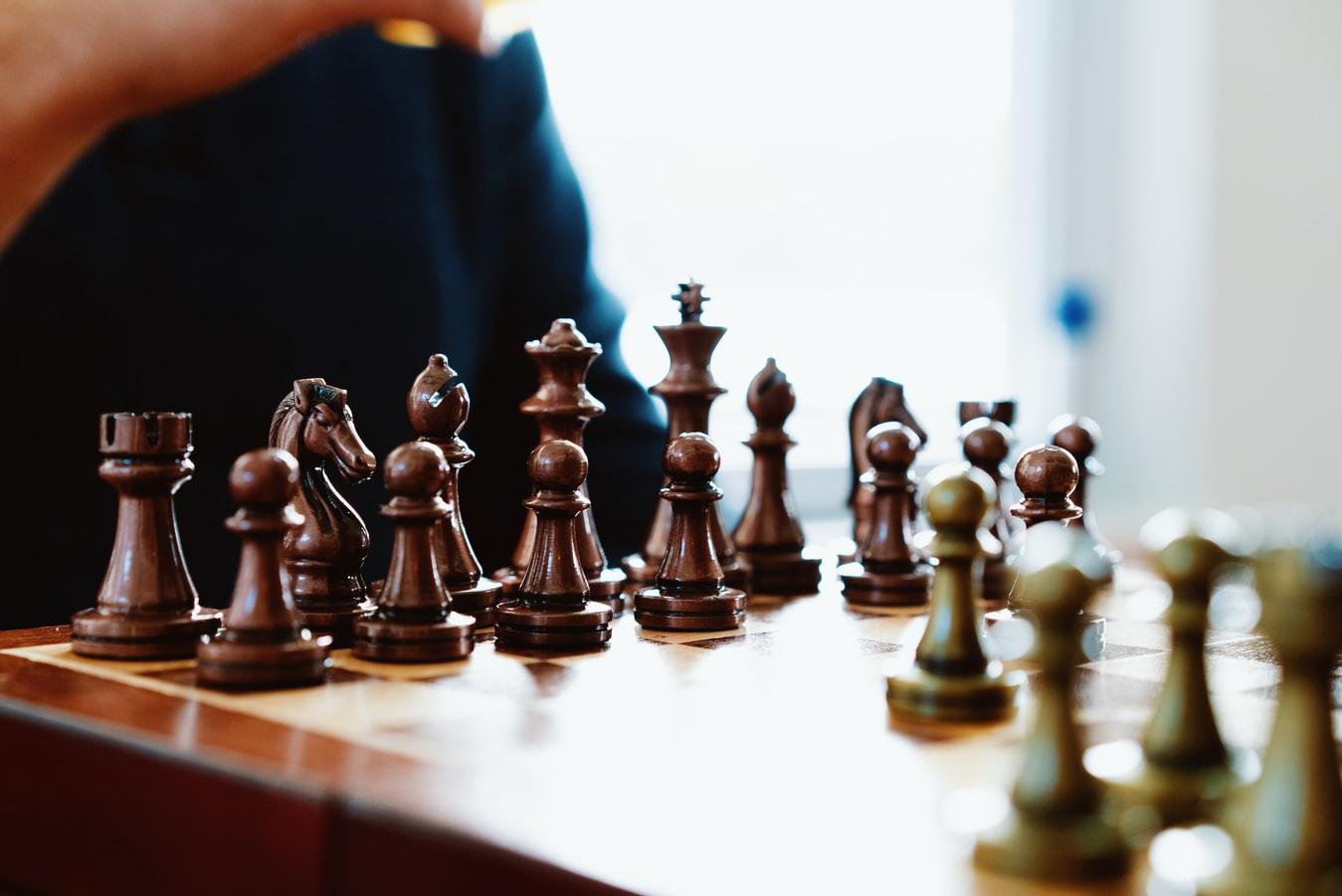 Um tabuleiro de xadrez