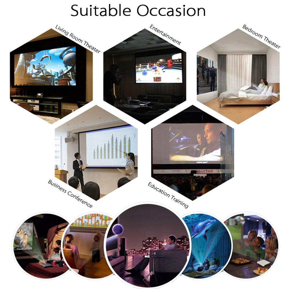 Projecteur HD 3D 1080P DNLA Miracast WiFi Sans Fil Wifi Ready 1200