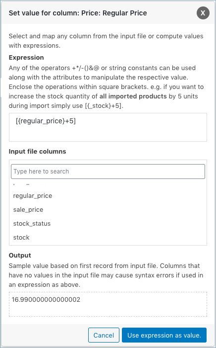 WooCommerce Coupon Import-evaluate fields