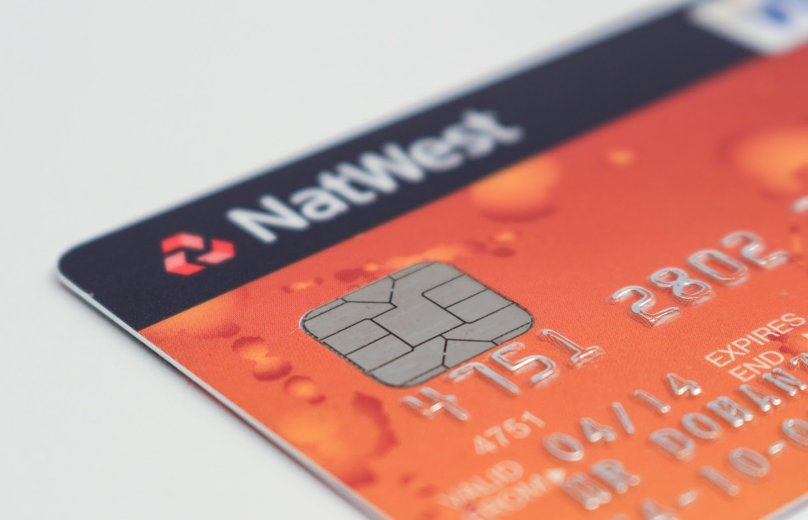 An orange and navy NatWest credit card. those who have had difficulty repaying other loans in the past.