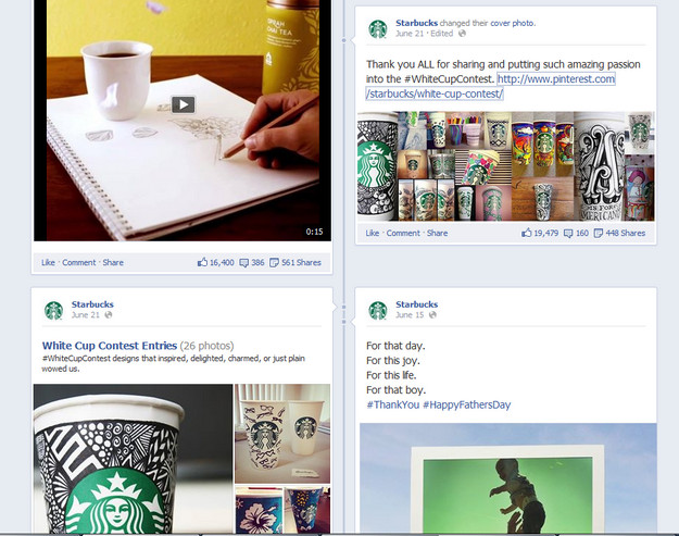 starbucks fb pinterest