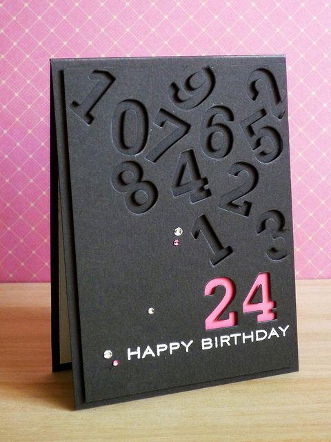 數字顯示生日卡