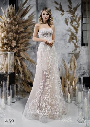 цветочный подол свадебного платья