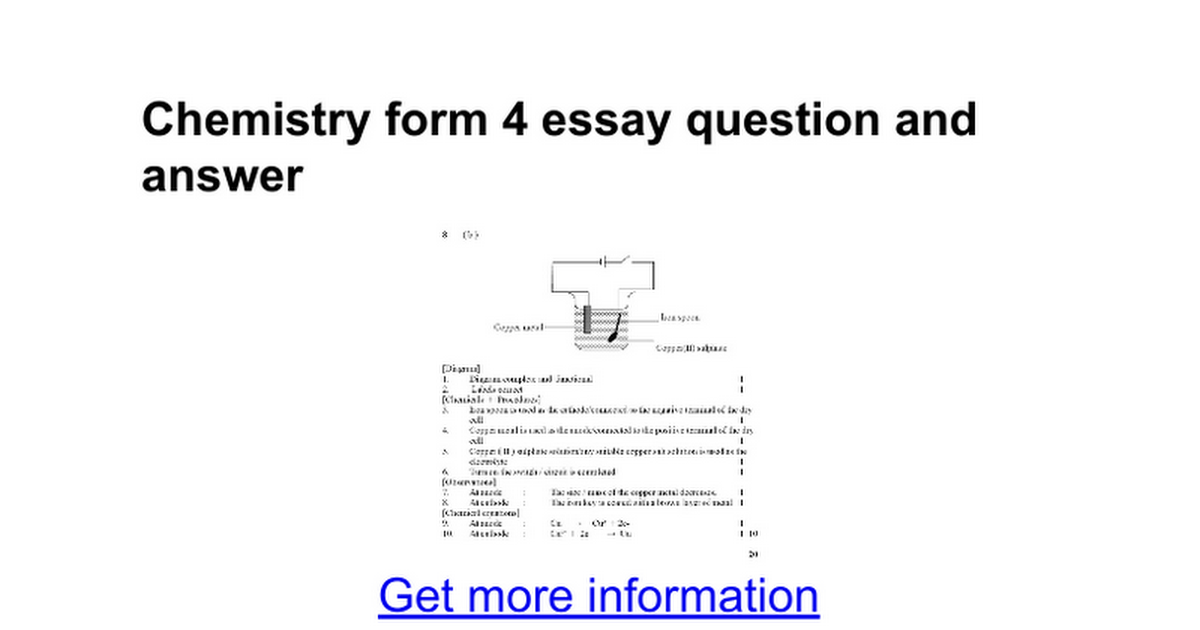 Chemistry form 4 essay question and answer google docs urtaz Choice Image