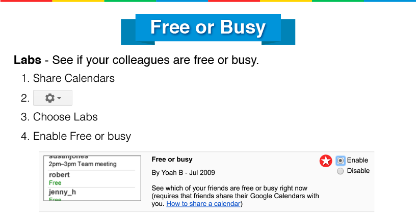 google free or busy