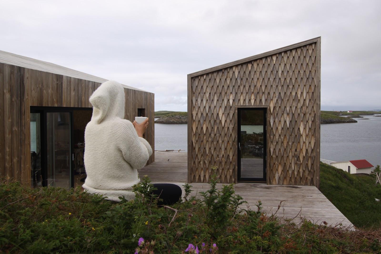 Kebony Character fasade hus diamant fiskeskjell form kledning Fordypningsrommet TYIN tegnestue Rintala Eggertsson Architects.