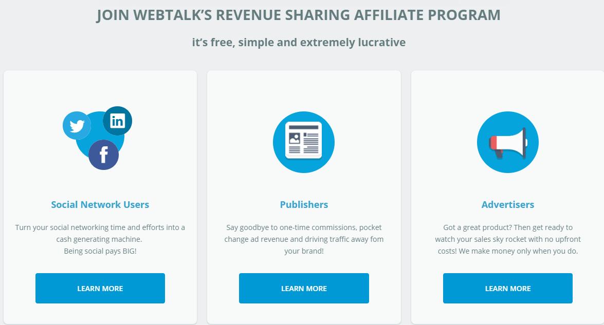 What Is Webtalk? Social Media That Pays You Join Webtalk Revenue Sharing Affiliate Program