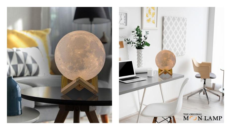 Interesantas Ziemassvētku dāvanas mēness lampa