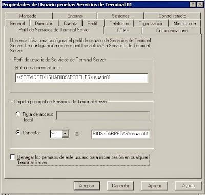 Perfl de Servicios de Terminal Server