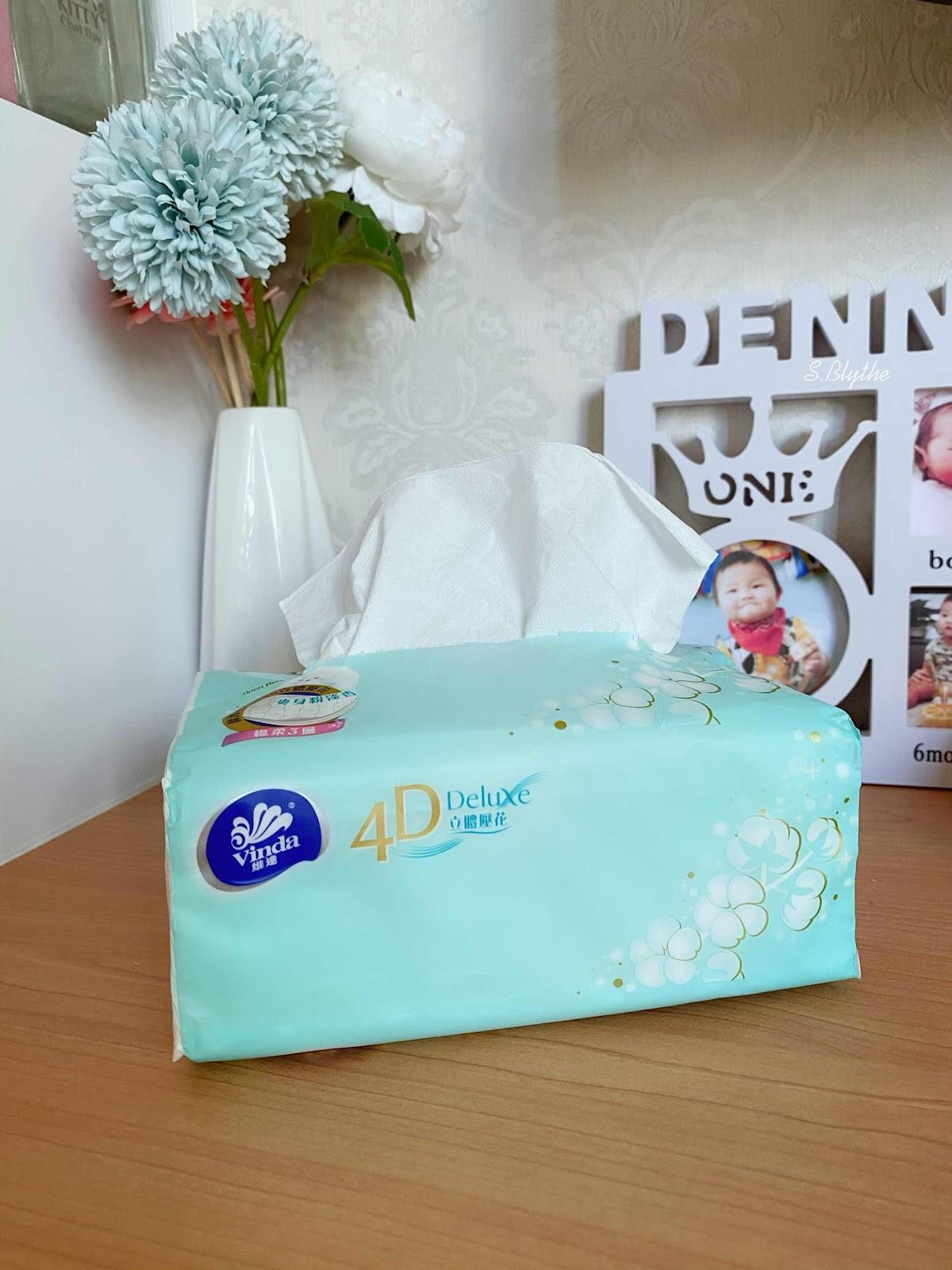 維達4D Deluxe 爽身粉淡香立體壓花袋裝面紙