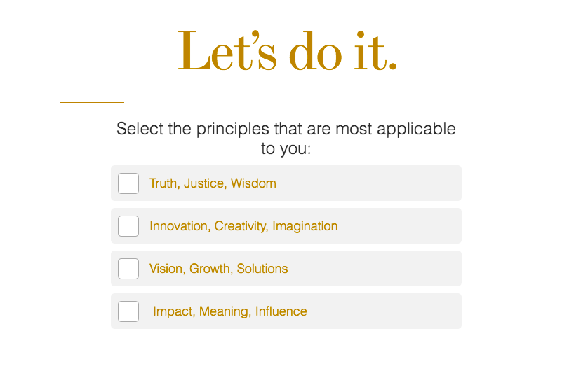 select principles that are most applicable to you question