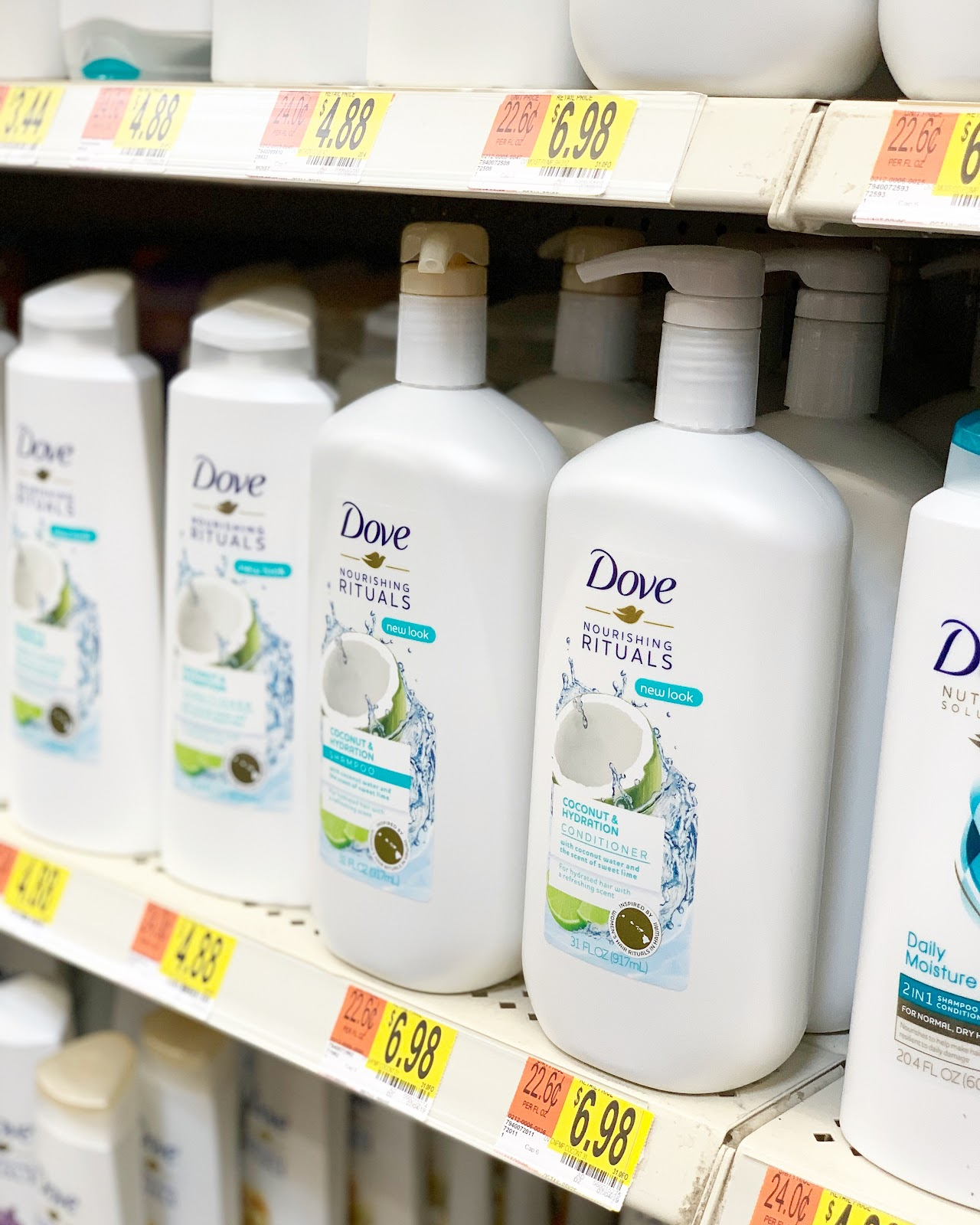 Dove nourishing rituals shampoo and conditioner at walmart