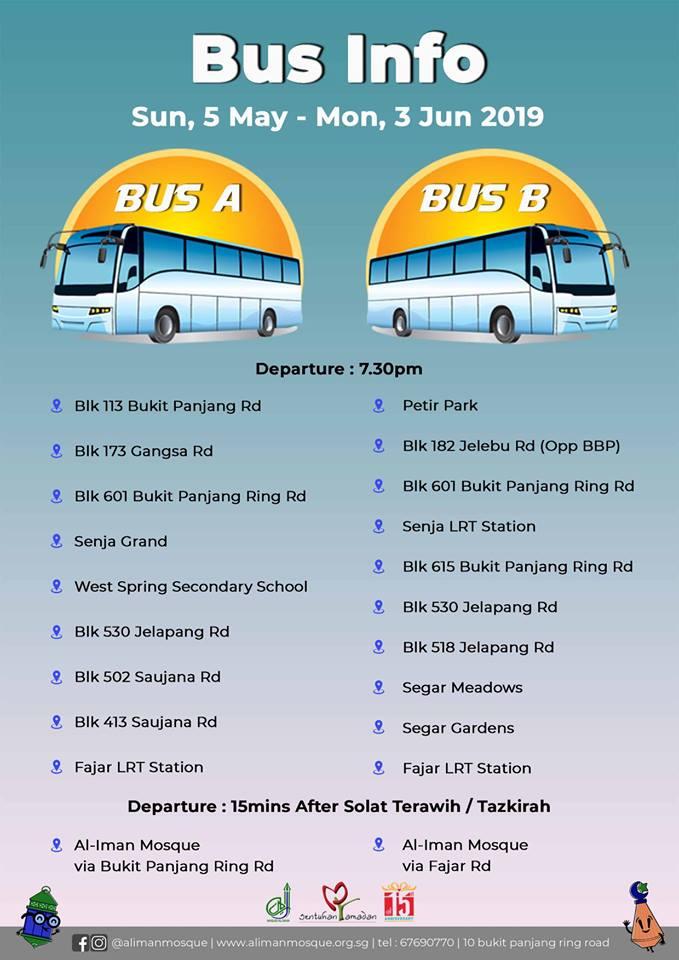 Masjid Al-Amin provides shuttle bus service for Terawih