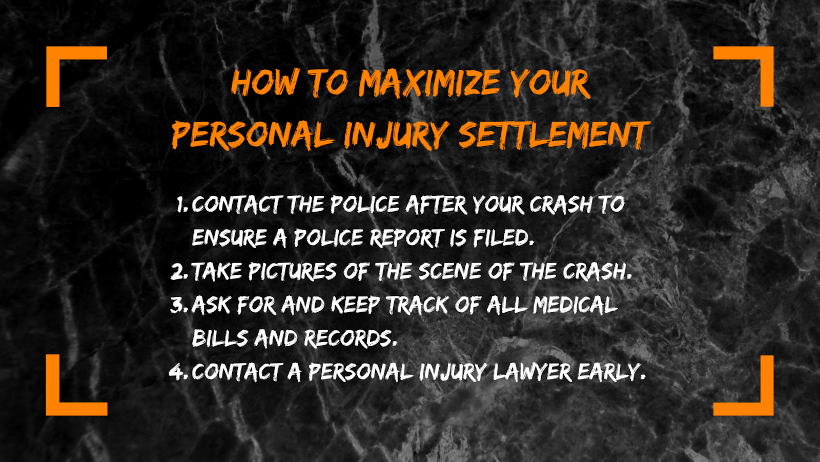 Image providing information about how to maximize personal injury settlements.