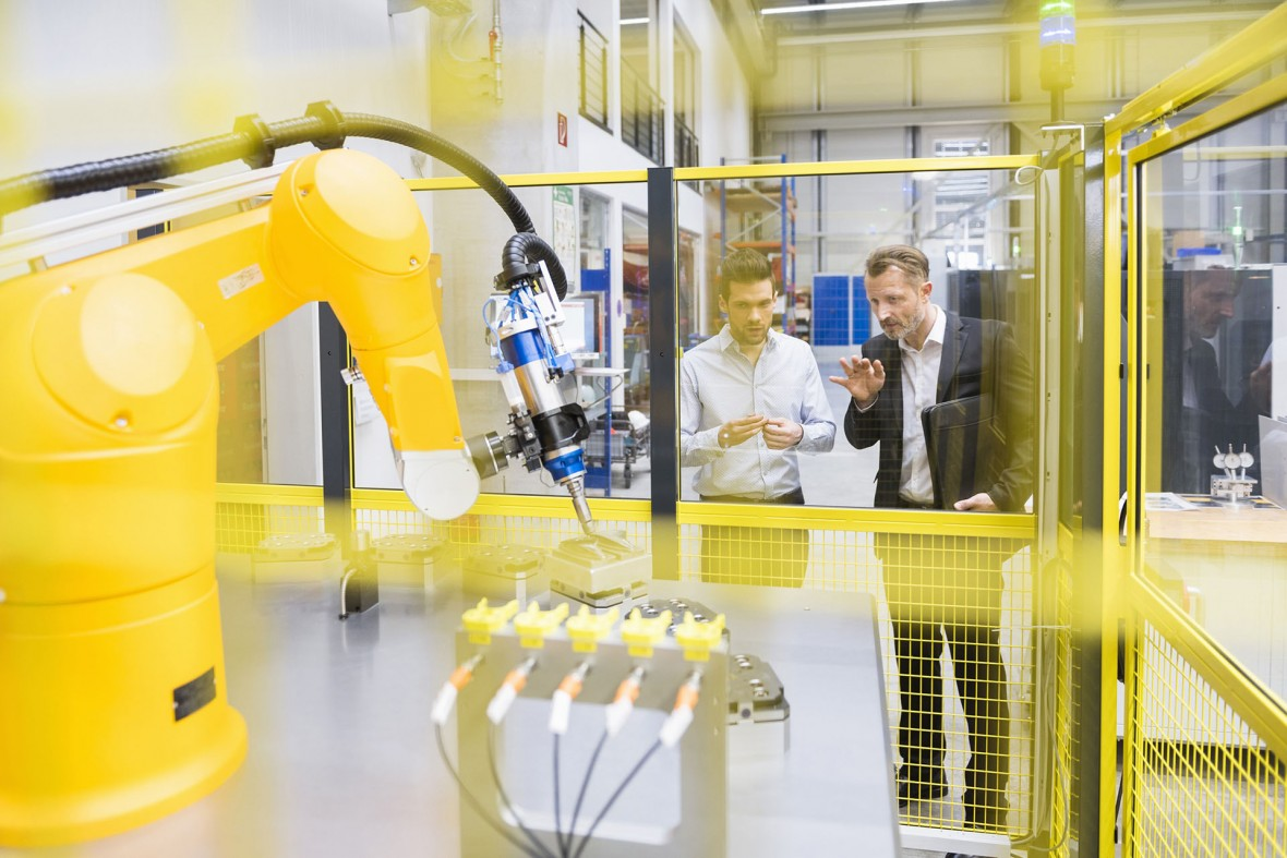 A Radar for Industrial Robots May Guide Collaboration with Humans
