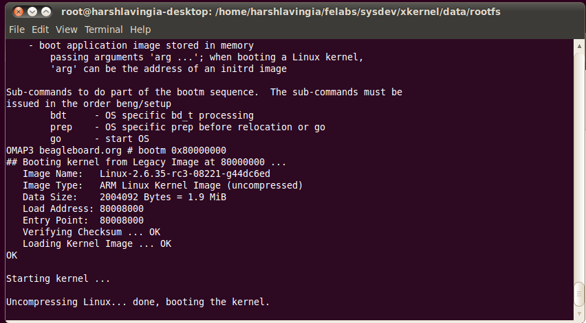 Lab4 - Cross Compile a Kernel (uImage) for Beagle Board