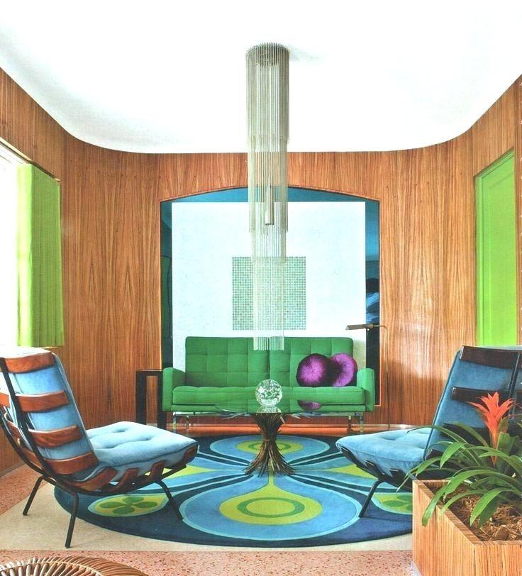 Nội thất đơn giản nhưng đậm màu sắc giúp phòng khách nổi bật phong cách retro