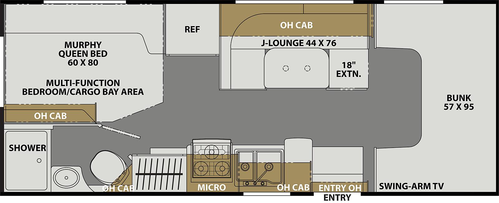 Coachmen Freelander 22XG floor plan budget friendly under 100k