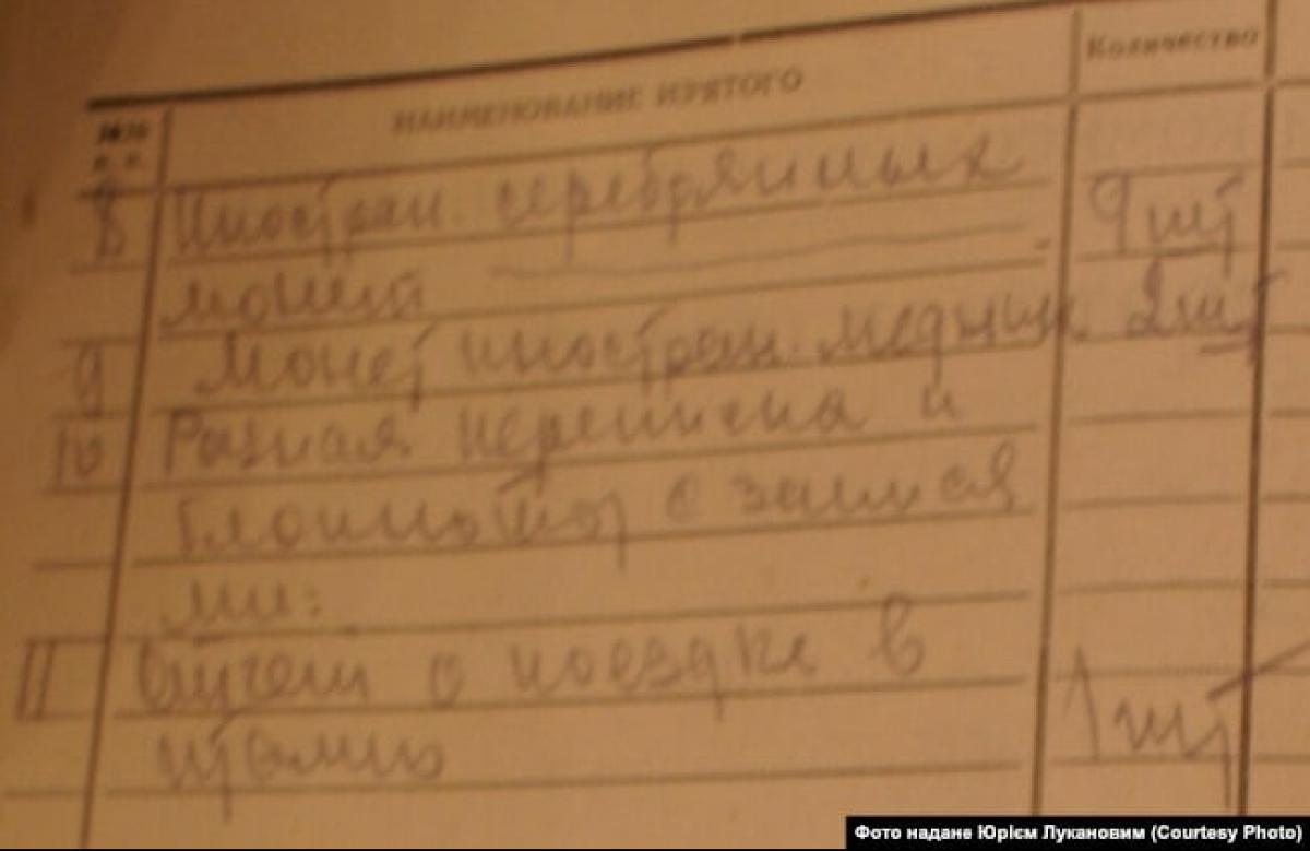 Документы допроса Константина Луканова