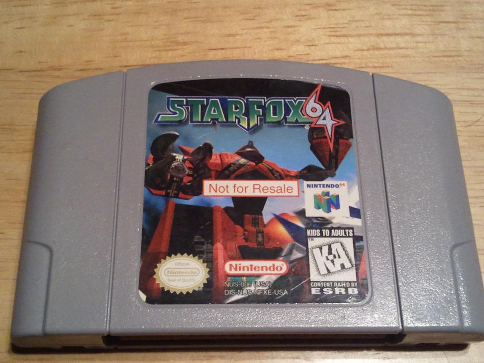 Star Fox Not for Resale N64
