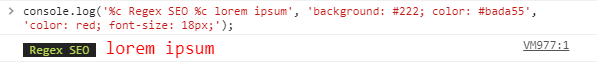 CSS styling to your console with %c