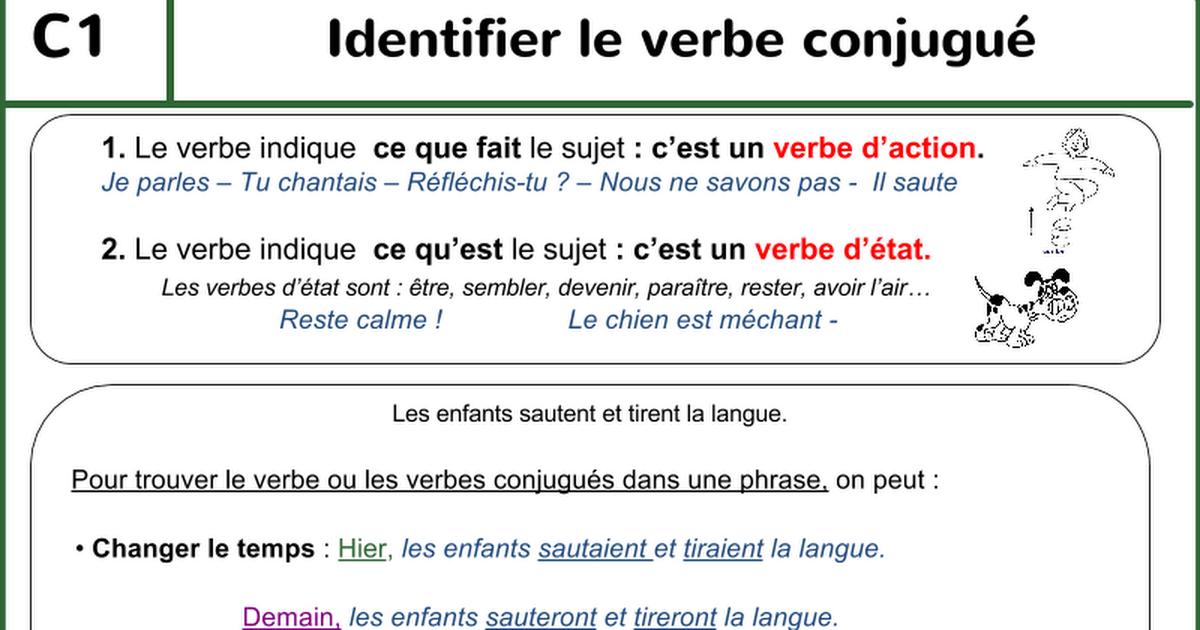 1314 Pptfiches Lecons Conjugaison Google Slides