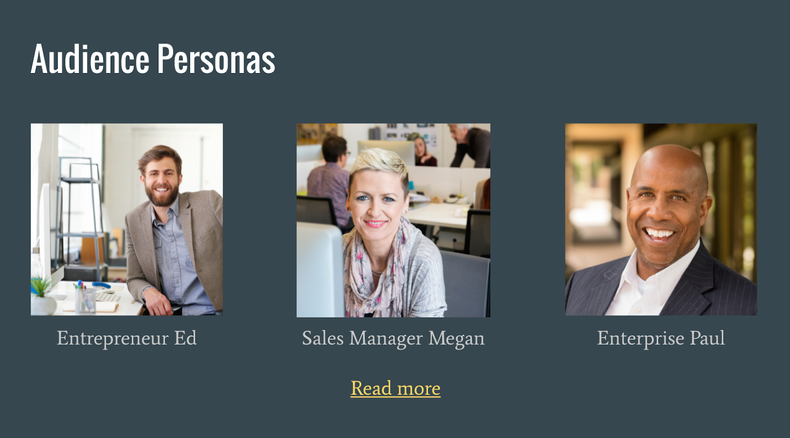 customer and audience personas in your team playbook