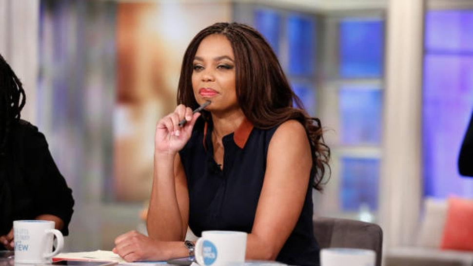 """THE VIEW - Jemele Hill is the guest co-host today, Wednesday, 2/21/18 on Walt Disney Television via Getty Images's """"The View."""" """"The View"""" airs Monday-Friday (11:00 am-12:00 pm, ET) on the Walt Disney Television via Getty Images Television Network."""