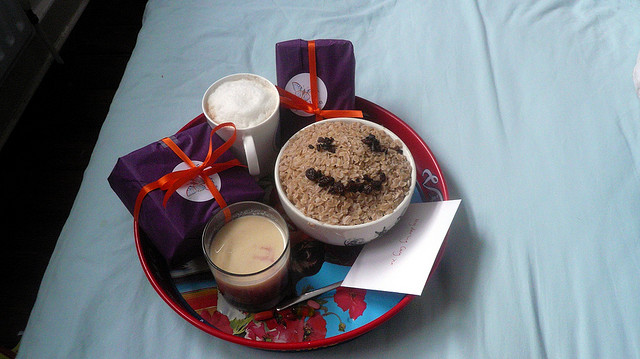 Birthday breakfast in bed!,