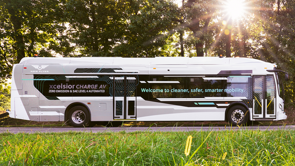 New Flyer Unveils the Xcelsior AV™ – North America's First Automated Transit  Bus - | Gadget News Plus