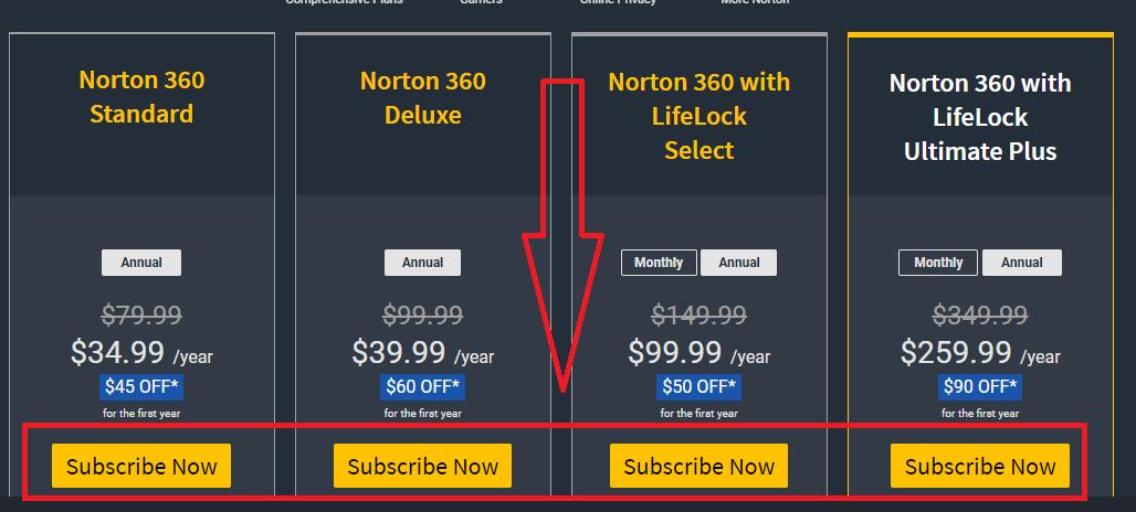 Norton VPN Plans Subscribe